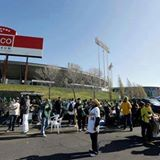 Oakland Coliseum Bleacher Crew Tailgate Spot on Facebaook